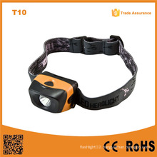 T10 3 Brightness Levels 1W Ipx4 Waterproof Reflector High Power LED Headlamp