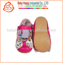 New spring youth leather baby dress shoes and rubber sole
