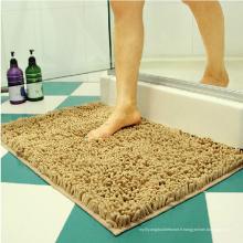 Tapis de bain lavable à la maison tapis de bain chenille
