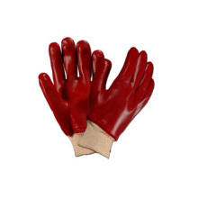 Red PVC Oil and Gas Resistant Working Chemical Hand Gloves