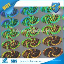 Kundenspezifisches 3d Hologramm mit ursprünglichem Laser holographisch geprägtem LOGO Aufkleberaufkleber