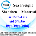 Shenzhen Ocean freight shipping container to Montreal