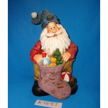 Antique Funny Santa with Gifts for Christmas Decoration