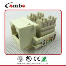 Hecho en China UTP / FTP Pass Fluke prueba Cat5e / cat6 / cat6a jacks modulares