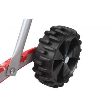 Right-angle Snow Pusher with Wheels