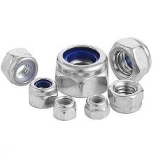 DIN985 Stainless Steel 304 M2 M3 M4 M5 M6 M8 M10 M12 M16 M18 M20 Self Locking Nut Hex Nylon Lock Nut