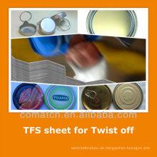 EN10202 standard Tin kostenlos aus Stahlblech für EOE abdrehen