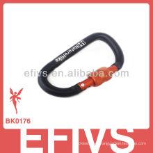 2013 carabiner de botón de escalada con anillo de bloqueo