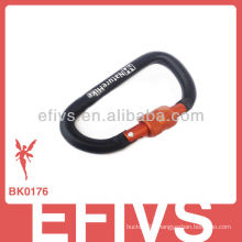 2013 climbing button carabiner with locking ring