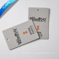 Etiqueta de columpio de papel de cartón gris de marca / etiqueta colgante