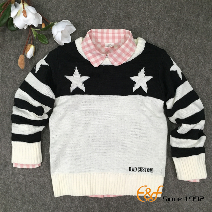 Black-white Color Sweater