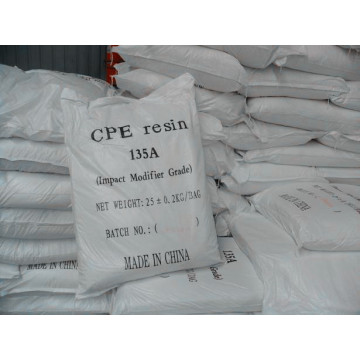 Supply for CPE Plastic Sheet CPE Resin 135A  Impact Modifier export to France Supplier