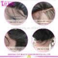 Qualité supérieure non transformés brésilien vague de corps pleine perruque de lacet perruque de cheveux naturels