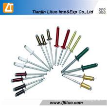 DIN 7337 Цветная открытая алюминиевая заклепочная заклепка
