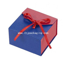 Luxury Gift Jewelry Packaging Trinket Box with Ribbon Closure