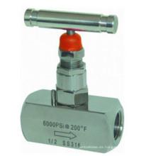 Válvula de aguja de bonete atornillada de alta presión de acero inoxidable
