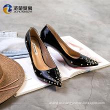Personality rivet high heels ballroom dancing dresses china lady shoes