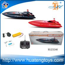 Rc de plástico de moda rc barco al por mayor de control remoto barco r ratoneros para la venta rc bait barco H123246