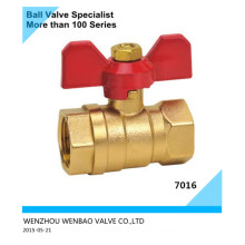 2PC Female Threaded Brass Ball Valve with Butterfly Handle Dn20
