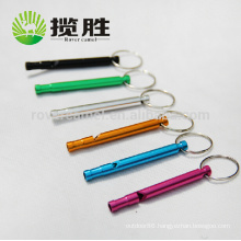 Outdoor Hiking Aluminum Survival Whistle Keychain Camping Emergency Whistle