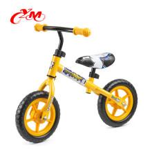 2017 heißer Verkauf Neue Design 12 inch kinder balance bike / leichte EVA reifen baby walker zyklus / sicherheit CE übergeben mini bike kein pedal
