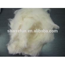 Fibre de laine de mouton chinoise naturelle blanche