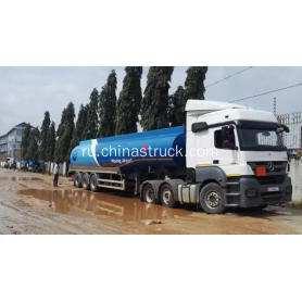 3 axle 45m3 fuel tank semi-trailer in Africa market