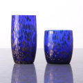 Venta al por mayor Glitter Blue Colored Highball Glass