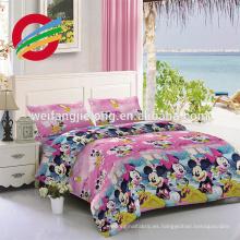 tela peinada de la hoja de algodón / tela tejida tira del satén 4/1 / tela blanca para el hotel tela 100% del algodón para las hojas de cama