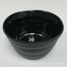 """3.5 """"melamina bacia redonda dentro brilhando, fora mate / 100% de louça de melamina (IW12136)"""