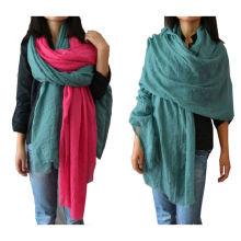 2016 moda color llano 100% viscosa primavera verano bufandas