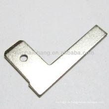 250-l-förmiger, vernickelter Flachstecker aus Stahl für elektrische Warmwasserbereiter / Elektroheizer
