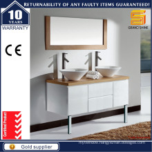 Lacquer Mixed Melamine Finish Bathroom Cabinet with Legs