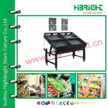2 tiers fruit and vegetable display rack