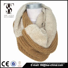 2015 winter fashion design knitted tube scarf