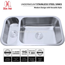 Dissipadores de cozinha dobro da bacia 20/80 com bacia profunda, 18/8 304 dissipadores de cozinha de aço inoxidável de Undermount para venda