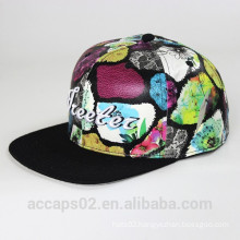 3d embroidery logo leather snapback custom