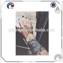 Tatuajes de Henna negros, etiqueta engomada temporal del tatuaje del cordón negro de la alheña
