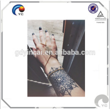 Tatuagens de Henna preto, etiqueta de tatuagem temporária de laço preto de Henna