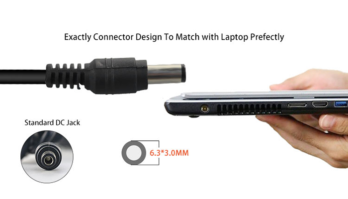 DC connector of laptop adapter