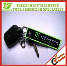 Tag chave bordado logotipo relativo à promoção Customzied do poliéster