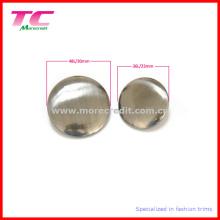 Пустая металлическая кнопка высокого качества для одежды