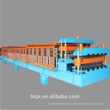 Máquina de moldagem de rolo de painel de parede / painel de tejadilho dupla, máquina de moldagem de painel de parede / telhado de dupla camada de alta velocidade