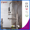 Fyeer New Nickle Brushed Pull Down Spray Kitchen Sink Faucet