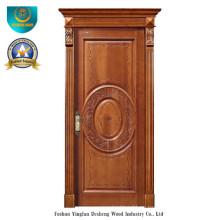 Puerta de madera sólida del estilo europeo Forinterior o exterior con talla (ds-8038)
