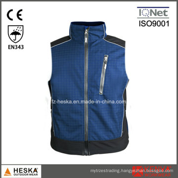 Work Casual Ripstop Waistcoat Mens Softshell Vest