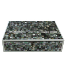 CBM-AB Hotel Amenity Black Mother of Pearl Jewelry Box