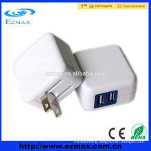 5V2.1A Dual/Single USB charger, Folding US plug for Iphone, Ipad, Ipod, Pad