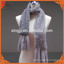 мода трикотажные норки шарф