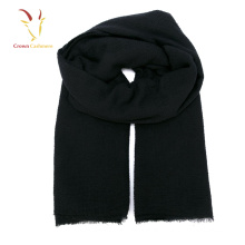 Men's Black Scarf Cashmere Knit Winter Scarf 2017